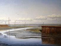 Wangerland, Hafeneinfahrt, Nordsee, Horumersiel