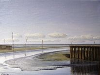 Malerei, Wangerland, Friesland, Priel