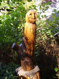 Wangerland, Holz, Skulptur, Eule