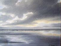 Wangerooge, Nordsee, Wasser, Ölmalerei