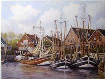Malerei, Kunstdruck, Hafen, Gemälde