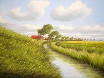 Lothar strübbe, Landschaft, Ostfriesland, Wasser