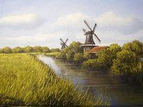 Friesland, Ostfriesland, Weite, Mühle