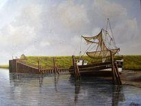 Hafen, Kutter, Wasser, Nordsee