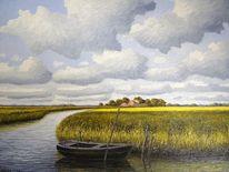 Ostfriesland, Friesland, Weite, Malerei