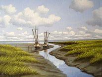 Kutter, Wasser, Watt, Nordsee
