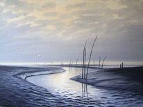 Ostfriesland, Friesland, Sand, Watt