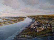 Boot, Nordsee, Wasser, Watt