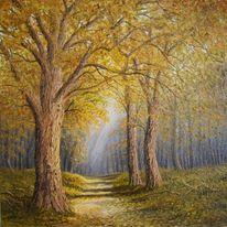 Weg, Herbst, Baum, Wald