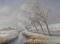 Schnee, Ostfriesland, Winter, Malerei