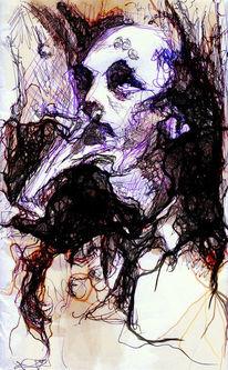 Zigarette, Gnosis, Blick, Portrait