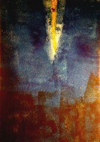 Blattgold, Aquarellmalerei, Experimentelle malerei, Pigmente