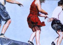 Körper, Bein, Aquarellmalerei, Hände