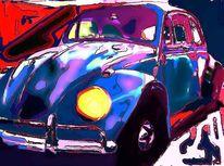 Licht, Blau, Digitale bearbeitung, Auto