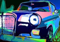 Auto, Digitale bearbeitung, Digitale kunst