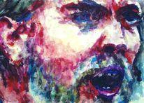 Schrei, Portrait, Blick, Prediger
