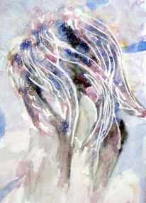 Haare, Aquarellmalerei, Malerei, Abstrakt