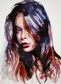 Haare, Gesicht, Portrait, Frau