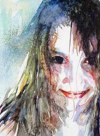 Blick, Portrait, Augen, Mädchen