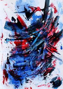 Blau, Abstrakt, Rot, Farben