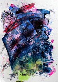 Farben, Acrylmalerei, Abstrakt, Zeichen