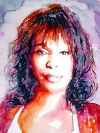 Houston, Aquarellmalerei, Blick, Portrait