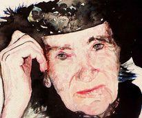 Portrait, Dame, Frau, Karneval