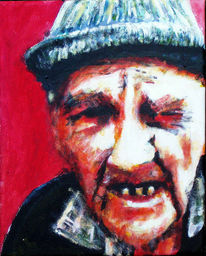 Alt, Acrylmalerei, Mann, Portrait