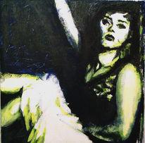 Lage, Frau, Acrylmalerei, Malerei
