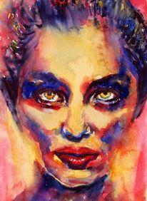 Augen, Portrait, Farben, Gesicht