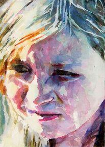 Ausdruck, Portrait, Mädchen, Licht