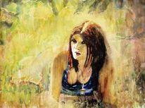 Sommer, Gras, Sonne, Aquarellmalerei