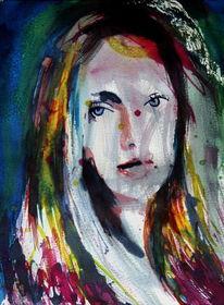 Menschen, Figurativ, Frau, Expressionismus