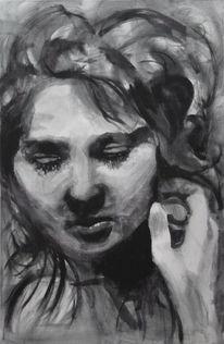 Portrait, Menschen, Monochrom, Frau