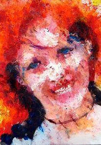 Aquarellmalerei, Portrait, Farben, Bunt