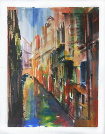 Lagune, Haus, Venedig, Stadt