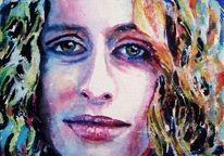 Gesicht, Aquarellmalerei, Augen, Portrait