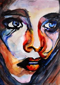 Portrait, Blick, Ausdruck, Gesicht