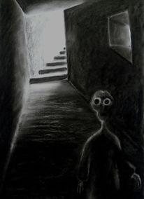 Licht, Schatten, Zeichnung, Angst