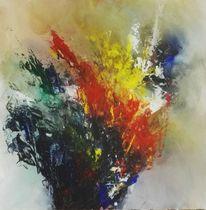 Feuer, Abstrakt, Blumen, Explosion bunt