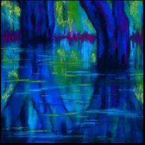 Wasser, Pastellmalerei, Baum, Landschaft