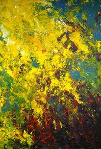 Landschaft, Abstrakt, Acrylmalerei, Malerei