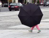 Kind, Bein, Fuß, Regenschirm