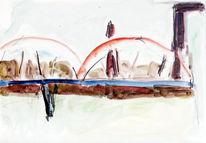 Abstrakt, Aquarellmalerei, Gouachemalerei, Malerei