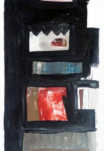 Abstrakt, Acrylmalerei, Malerei, Gouachemalerei