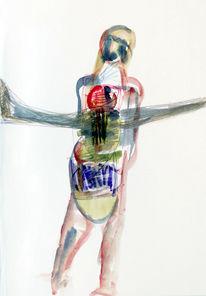 Acrylmalerei, Bleistiftzeichnung, Malerei, Surreal