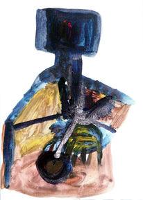 Abstrakt, Gouachemalerei, Malerei,