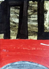 Gouachemalerei, Abstrakt, Malerei,