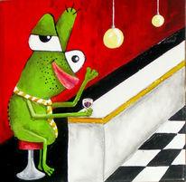 Frosch, Eumel, Bar, Flirt
