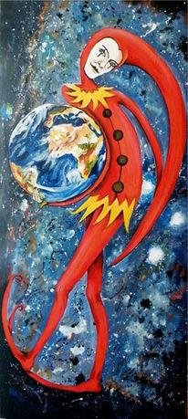 Welt, Erde, Weltall, Harlekin